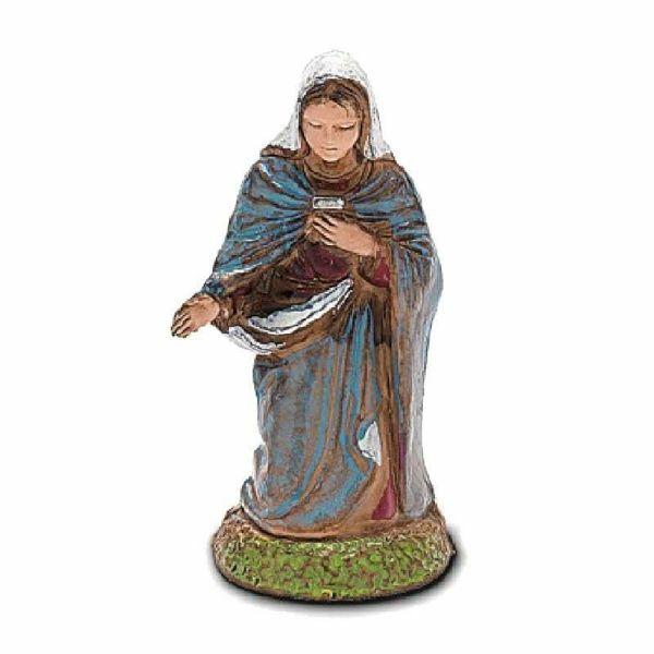 Immagine di Madonna / Maria cm 6 (2,4 inch) Presepe Landi Moranduzzo in PVC stile Napoletano