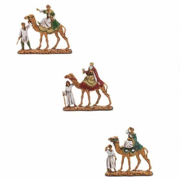 Immagine di Re Magi su Cammello cm 3,5 (1,4 inch) Presepe Landi Moranduzzo in PVC stile Napoletano