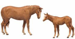 Picture of Horse with Foal cm 8 (3,1 inch) Landi Moranduzzo Nativity Scene in PVC, Neapolitan style