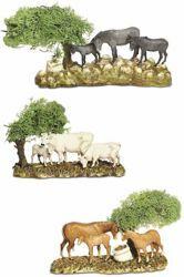 Picture of 3 Animals Set cm 8 (3,1 inch) Landi Moranduzzo Nativity Scene in PVC, Neapolitan style