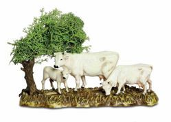Picture of Cows Set cm 8 (3,1 inch) Landi Moranduzzo Nativity Scene in PVC, Neapolitan style