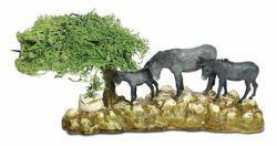 Picture of Donkeys Set cm 8 (3,1 inch) Landi Moranduzzo Nativity Scene in PVC, Neapolitan style