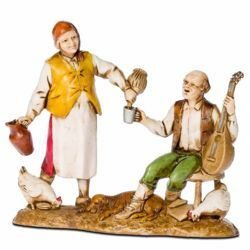 Picture of Host cm 8 (3,1 inch) Landi Moranduzzo Nativity Scene in PVC, Neapolitan style
