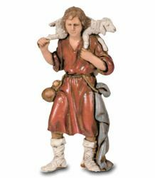 Picture of Good Shepherd cm 8 (3,1 inch) Landi Moranduzzo Nativity Scene in PVC, Neapolitan style