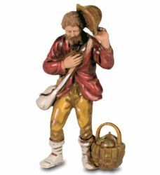 Picture of Shepherd with Hat cm 8 (3,1 inch) Landi Moranduzzo Nativity Scene in PVC, Neapolitan style