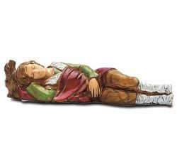 Picture of Sleeping Man cm 8 (3,1 inch) Landi Moranduzzo Nativity Scene in PVC, Neapolitan style
