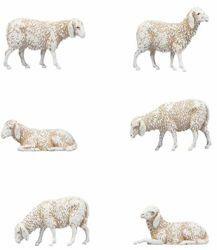 Picture of 6 Sheep Set cm 8 (3,1 inch) Landi Moranduzzo Nativity Scene in PVC, Neapolitan style