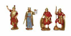 Picture of King Herod, Centurion and 2 Roman Soldiers cm 8 (3,1 inch) Landi Moranduzzo Nativity Scene in PVC, Neapolitan style