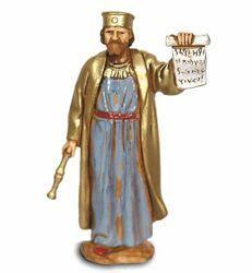 Picture of King Herod cm 8 (3,1 inch) Landi Moranduzzo Nativity Scene in PVC, Neapolitan style