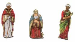 Picture of Wise Kings cm 8 (3,1 inch) Landi Moranduzzo Nativity Scene in PVC, Neapolitan style