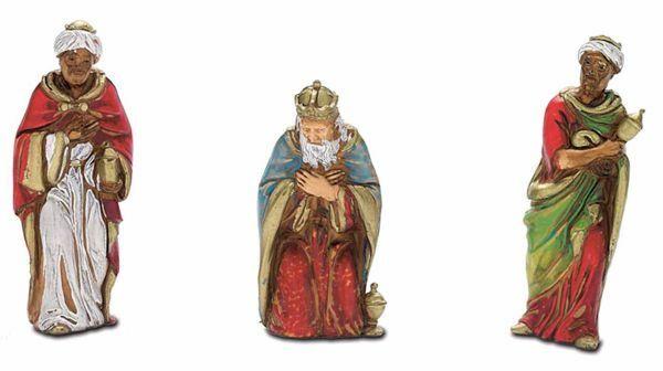Picture of Wise Kings cm 8 (3,1 inch) Landi Moranduzzo Nativity Scene in PVC, Neapolitan style