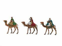 Picture of Wise Kings on Camel cm 8 (3,1 inch) Landi Moranduzzo Nativity Scene in PVC, Neapolitan style