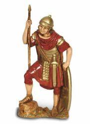 Picture of Roman Soldier with Spear cm 8 (3,1 inch) Landi Moranduzzo Nativity Scene in PVC, Neapolitan style