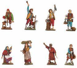 Picture of 8 Crafts Set cm 8 (3,1 inch) Landi Moranduzzo Nativity Scene in PVC, Neapolitan style