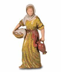 Imagen de Mujer con Jarras cm 8 (3,1 inch) Belén Landi Moranduzzo en PVC, estilo Napolitano