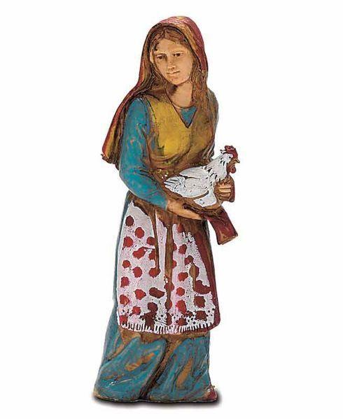 Imagen de Mujer con Pollo cm 8 (3,1 inch) Belén Landi Moranduzzo en PVC, estilo Napolitano