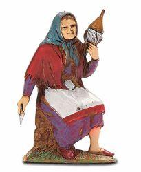 Picture of Weaving Old Woman cm 8 (3,1 inch) Landi Moranduzzo Nativity Scene in PVC, Neapolitan style