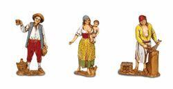 Picture of 3 Subjects Set cm 8 (3,1 inch) Landi Moranduzzo Nativity Scene in PVC, Neapolitan style