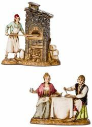 Picture of 2 Trades Set cm 8 (3,1 inch) Landi Moranduzzo Nativity Scene in PVC, Neapolitan style