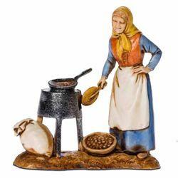 Picture of Chestnut-woman cm 8 (3,1 inch) Landi Moranduzzo Nativity Scene in PVC, Neapolitan style