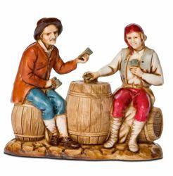Picture of Card Players Set cm 8 (3,1 inch) Landi Moranduzzo Nativity Scene in PVC, Neapolitan style