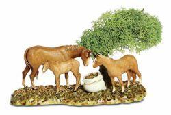 Picture of Horses Set cm 8 (3,1 inch) Landi Moranduzzo Nativity Scene in PVC, Neapolitan style