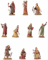 Picture of 10 Shepherds Set cm 6,5 (2,6 inch) Landi Moranduzzo Nativity Scene in PVC, Arabic style