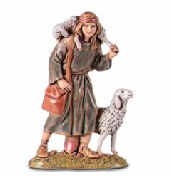 Picture of Good Shepherd cm 6,5 (2,6 inch) Landi Moranduzzo Nativity Scene in PVC, Arabic style