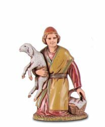 Picture of Offering Shepherd cm 6,5 (2,6 inch) Landi Moranduzzo Nativity Scene in PVC, Arabic style