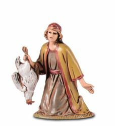 Picture of Kneeling Shepherd cm 6,5 (2,6 inch) Landi Moranduzzo Nativity Scene in PVC, Arabic style
