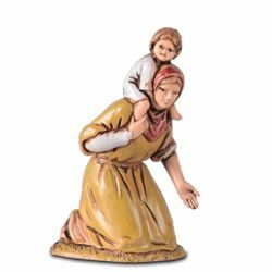Picture of Adoring Man with Child cm 6,5 (2,6 inch) Landi Moranduzzo Nativity Scene in PVC, Arabic style