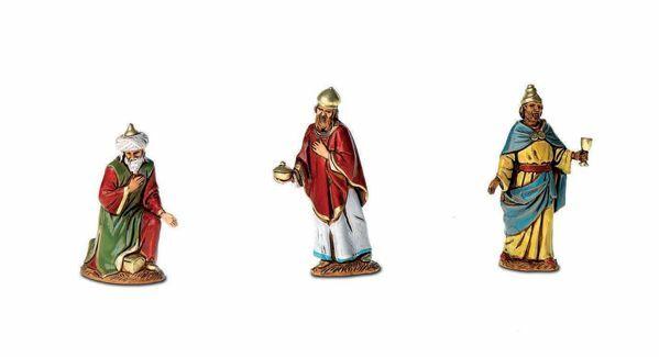 Imagen de Reyes Magos cm 6,5 (2,6 inch) Belén Landi Moranduzzo en PVC, estilo árabe