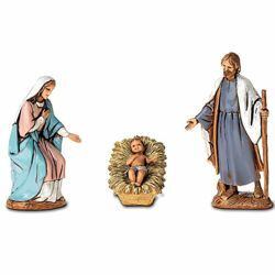 Picture of Holy Family Set 3 pcs cm 6,5 (2,6 inch) Landi Moranduzzo Nativity Scene in PVC, Arabic style
