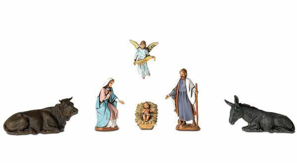 Imagen de Grupo Natividad Sagrada Familia 6 pzas cm 6,5 (2,6 inch) Belén Landi Moranduzzo en PVC, estilo árabe