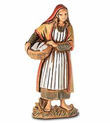 Picture of Woman with Basket cm 6,5 (2,6 inch) Landi Moranduzzo Nativity Scene in PVC, Arabic style