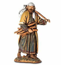 Picture of Lumberjack with Wood cm 6,5 (2,6 inch) Landi Moranduzzo Nativity Scene in PVC, Arabic style