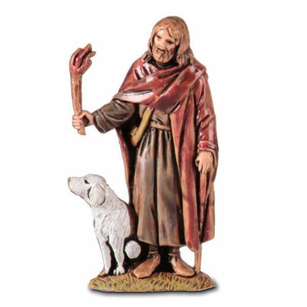 Imagen de Pastor caminando con linterna cm 6,5 (2,6 inch) Belén Landi Moranduzzo en PVC, estilo árabe