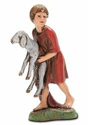 Picture of Boy with Sheep cm 10 (3,9 inch) Landi Moranduzzo Nativity Scene in PVC, Neapolitan style
