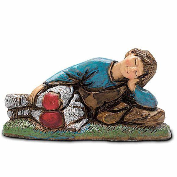 Picture of Spleeping Baby cm 10 (3,9 inch) Landi Moranduzzo Nativity Scene in PVC, Neapolitan style