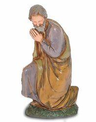 Immagine di San Giuseppe cm 10 (3,9 inch) Presepe Landi Moranduzzo in PVC stile Napoletano