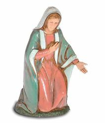 Picture of Mary / Madonna cm 10 (3,9 inch) Landi Moranduzzo Nativity Scene in PVC, Neapolitan style