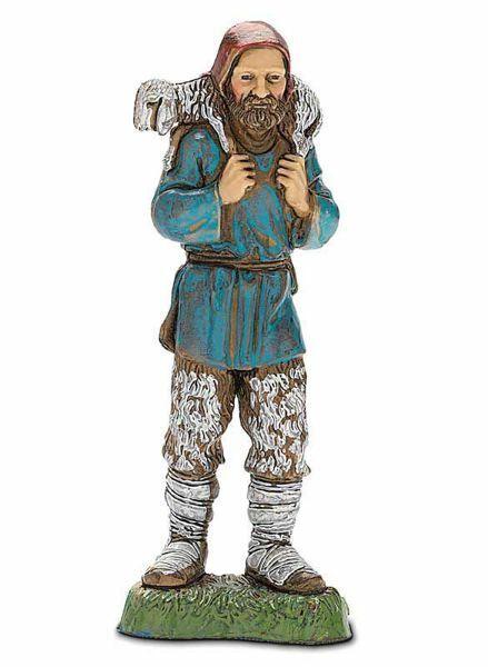 Picture of Good Shepherd cm 10 (3,9 inch) Landi Moranduzzo Nativity Scene in PVC, Neapolitan style