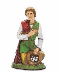 Picture of Peasant with Presents cm 10 (3,9 inch) Landi Moranduzzo Nativity Scene in PVC, Neapolitan style