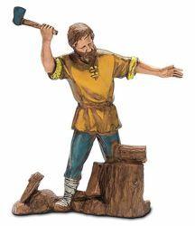 Picture of Lumberjack cm 10 (3,9 inch) Landi Moranduzzo Nativity Scene in PVC, Neapolitan style