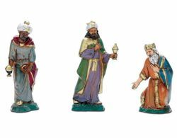 Picture of Wise Kings cm 10 (3,9 inch) Landi Moranduzzo Nativity Scene in PVC, Neapolitan style