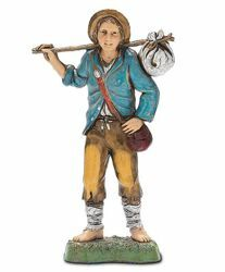 Picture of Young Man with Bassoon cm 10 (3,9 inch) Landi Moranduzzo Nativity Scene in PVC, Neapolitan style