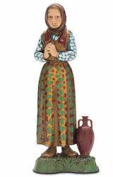 Immagine di Donna con Anfora cm 10 (3,9 inch) Presepe Landi Moranduzzo in PVC stile Napoletano
