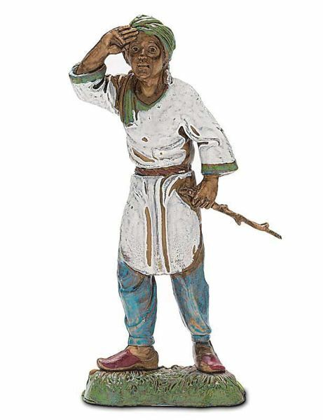 Imagen de Hombre árabe de guarda cm 10 (3,9 inch) Belén Landi Moranduzzo en PVC, estilo Napolitano