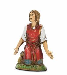 Picture of Kneeling Woman with open Arms cm 10 (3,9 inch) Landi Moranduzzo Nativity Scene in PVC, Neapolitan style