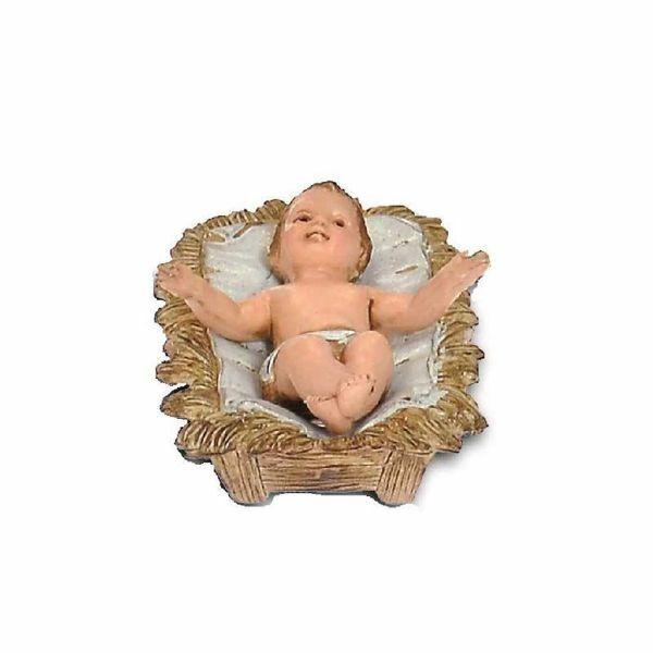 Immagine di Gesù Bambino cm 10 (3,9 inch) Presepe Landi Moranduzzo in PVC stile Napoletano